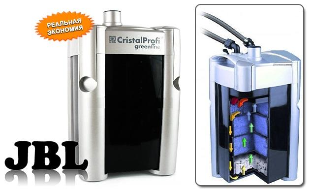 Внешний фильтр для аквариума JBL CristalProfi GreenLine / жбл кристалпрофи гринлайн
